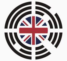 Korean Brit Multinational Patriot Flag Series Baby Tee