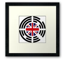 Korean Brit Multinational Patriot Flag Series Framed Print