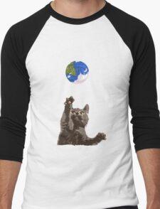 Cat Earth Yarn Men's Baseball ¾ T-Shirt