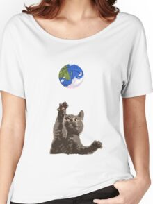 Cat Earth Yarn Women's Relaxed Fit T-Shirt