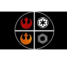 star wars symbols  Photographic Print
