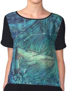Moonlit Sea Chiffon Top