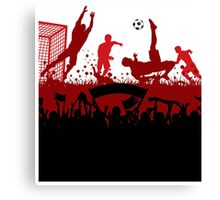 Soccer players at play poster Canvas Print