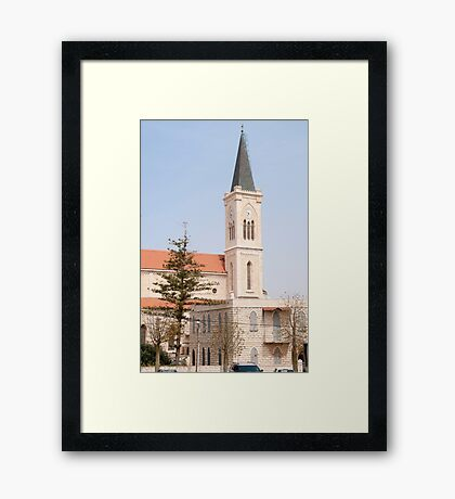 St Anthony's Catholic Parish Church, On Yefet street, Jaffa, Israel  Framed Print