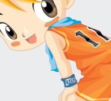 Basketball cartoon girl character Sticker