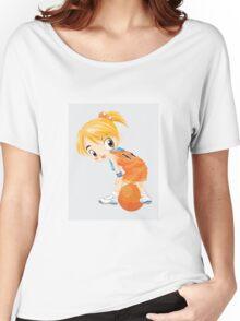 Basketball cartoon girl character Women's Relaxed Fit T-Shirt