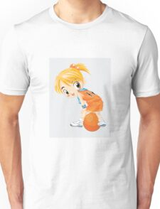 Basketball cartoon girl character Unisex T-Shirt