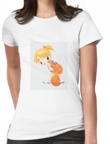 Basketball cartoon girl character Womens Fitted T-Shirt