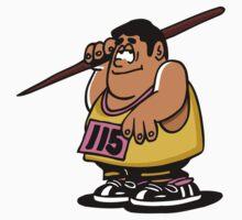 Javelin sport cartoon art One Piece - Short Sleeve