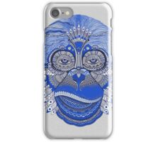 MONKEY COLLECTION BLUE INDIE FEATHER iPhone Case/Skin
