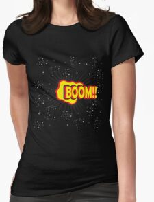 BOOM!! Pop Art Graphic Womens Fitted T-Shirt