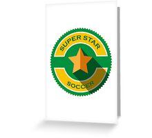 creative super star soccer Greeting Card