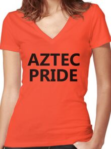 Aztec Pride Women's Fitted V-Neck T-Shirt