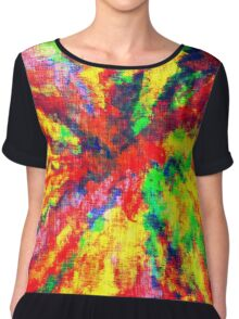 Psychedelic Art School Acrylic Paint Canvas Chiffon Top