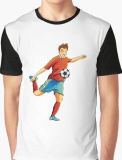 Portugal player kick the ball in euro cup Graphic T-Shirt