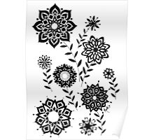 Geometric Flowers number 2 Poster