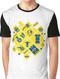 Brazil football icons Graphic T-Shirt