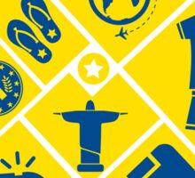 Brazil football icons Sticker