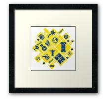Brazil football icons Framed Print