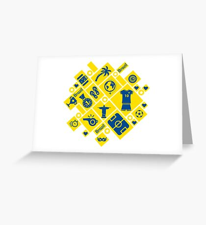 Brazil football icons Greeting Card