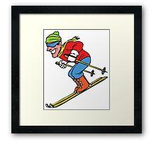 Skateboarding Framed Print