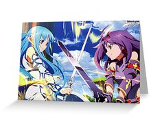 Sword Art Online II : Mother's Rosario - Asuna & Yuuki Poster Greeting Card