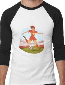 Funny cartoon football sporting design Men's Baseball ¾ T-Shirt