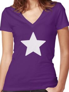 Legion of Super-Heroes; Star Boy Women's Fitted V-Neck T-Shirt