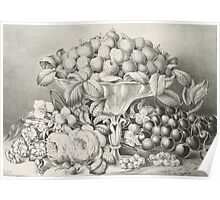 Fruit and flower piece - 1863 - Currier & Ives Poster