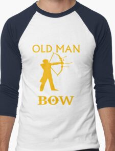 AN OLD MAN WITH BOW Men's Baseball ¾ T-Shirt
