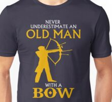 AN OLD MAN WITH BOW Unisex T-Shirt