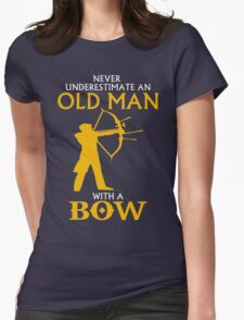 AN OLD MAN WITH BOW Womens Fitted T-Shirt