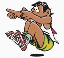 Athletics sport cartoon art Baby Tee