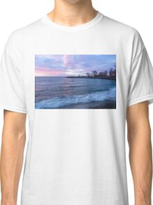 Soft and Rough - Colorful Dawn on the Lakeshore Classic T-Shirt