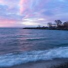 Soft and Rough - Colorful Dawn on the Lakeshore by Georgia Mizuleva