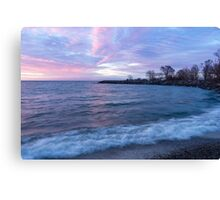 Soft and Rough - Colorful Dawn on the Lakeshore Canvas Print