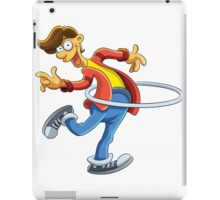 Cartoon boy playing with ring iPad Case/Skin