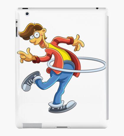 Cartoon boy playing with ring iPad Case/Skin