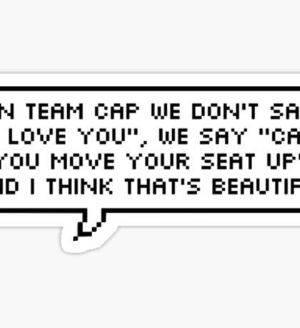 Team Cap Sticker