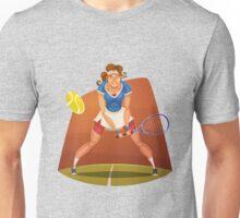 Funny cartoon tennis sporting design Unisex T-Shirt
