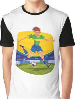 Funny cartoon football sporting design Graphic T-Shirt