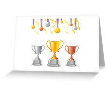 Trophies medals art Greeting Card
