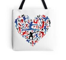 Athletic player made heart in Olympic Tote Bag