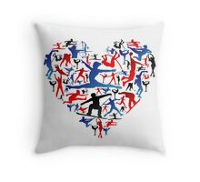 Athletic player made heart in Olympic Throw Pillow