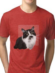 Hand drawn brown cat Tri-blend T-Shirt
