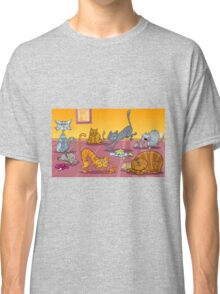 Cats painting Classic T-Shirt