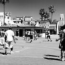 Between Play - Venice Beach - California - USA by Norman Repacholi