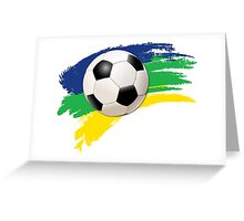Brazil soccer world cup background Greeting Card