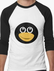 Funny tux face Men's Baseball ¾ T-Shirt