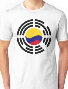 Korean Colombian Multinational Patriot Flag Series Unisex T-Shirt